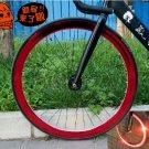 Fixie Bike Wheel Rim Stickers Reflect Light Red (For 1 Wheel)