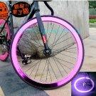 Fixie Bike Wheel Rim Stickers Reflect Light Pink (For 1 Wheel)