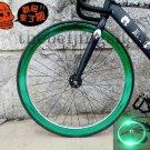 Fixie Bike Wheel Rim Stickers Reflect Light Green (For 1 Wheel)