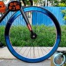 Fixie Bike Wheel Rim Stickers Reflect Light Blue (For 1 Wheel)