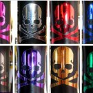 Plating Color Skull Fixie Fixed Gear Bicycle Sticker x 3 pcs