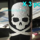 Bling Bling Skull skeleton Fixed Gear Bicycle Sticker x 3 pcs