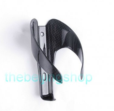 3K Carbon Fiber Bicycle Bike Water Bottle Holder Cage