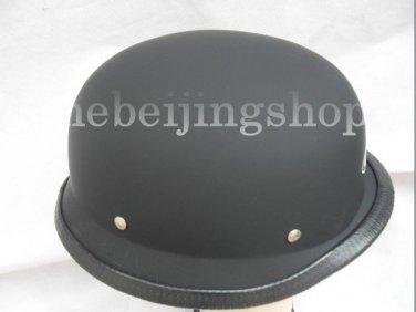 Matte Black German Style Motorcycle Half Helmet