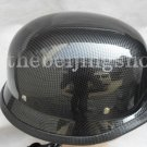 Carbon Fiber German Style Motorcycle Half Helmet