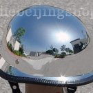 Chrome Silver German Style Motorcycle Half Helmet