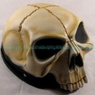 Skull Skeleton Face on Top Half Face Motorcycle Helmet