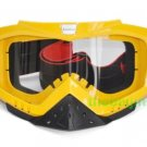 ATV Dirt Bike Motorcycle Goggles with nose cover (Yellow)