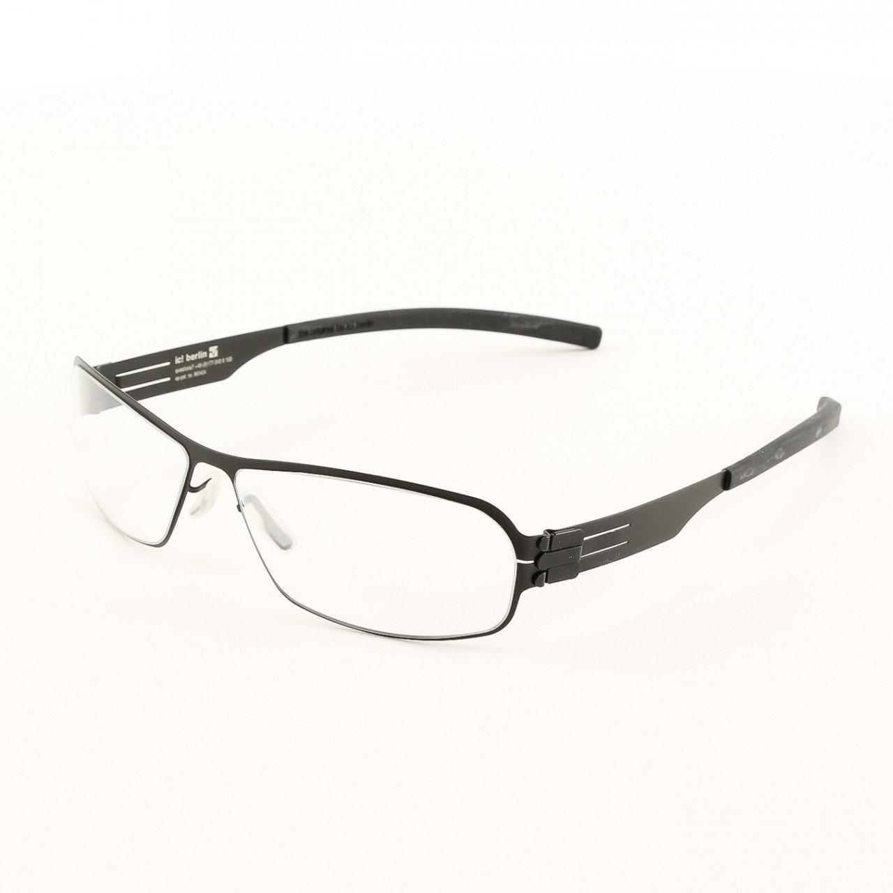 ic! Berlin Ye G. Eyeglasses Col. Black with Clear Lenses