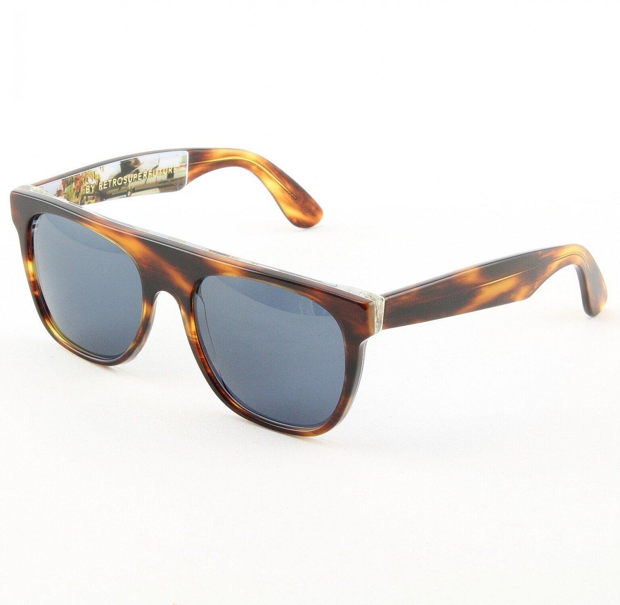 Super Flat Top 944/2T Sunglasses Color Remember Flight Brown Havana Wall Paper by RETROSUPERFUTURE