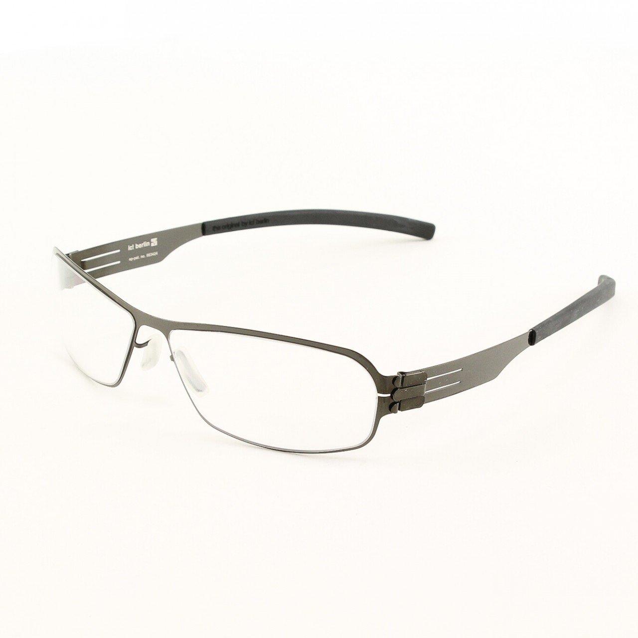 ic! Berlin Ye G. Eyeglasses Col. Gun Metal with Clear Lenses