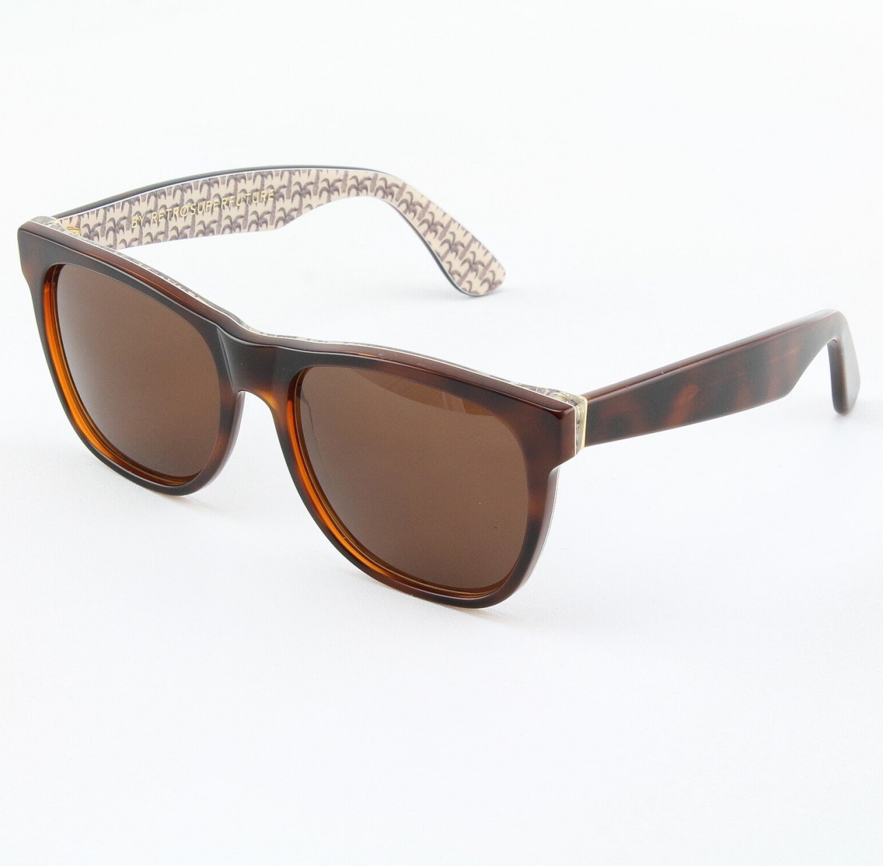 Super Classic 508/3T Sunglasses Brown with Brown Zeiss Lenses by RETROSUPERFUTURE