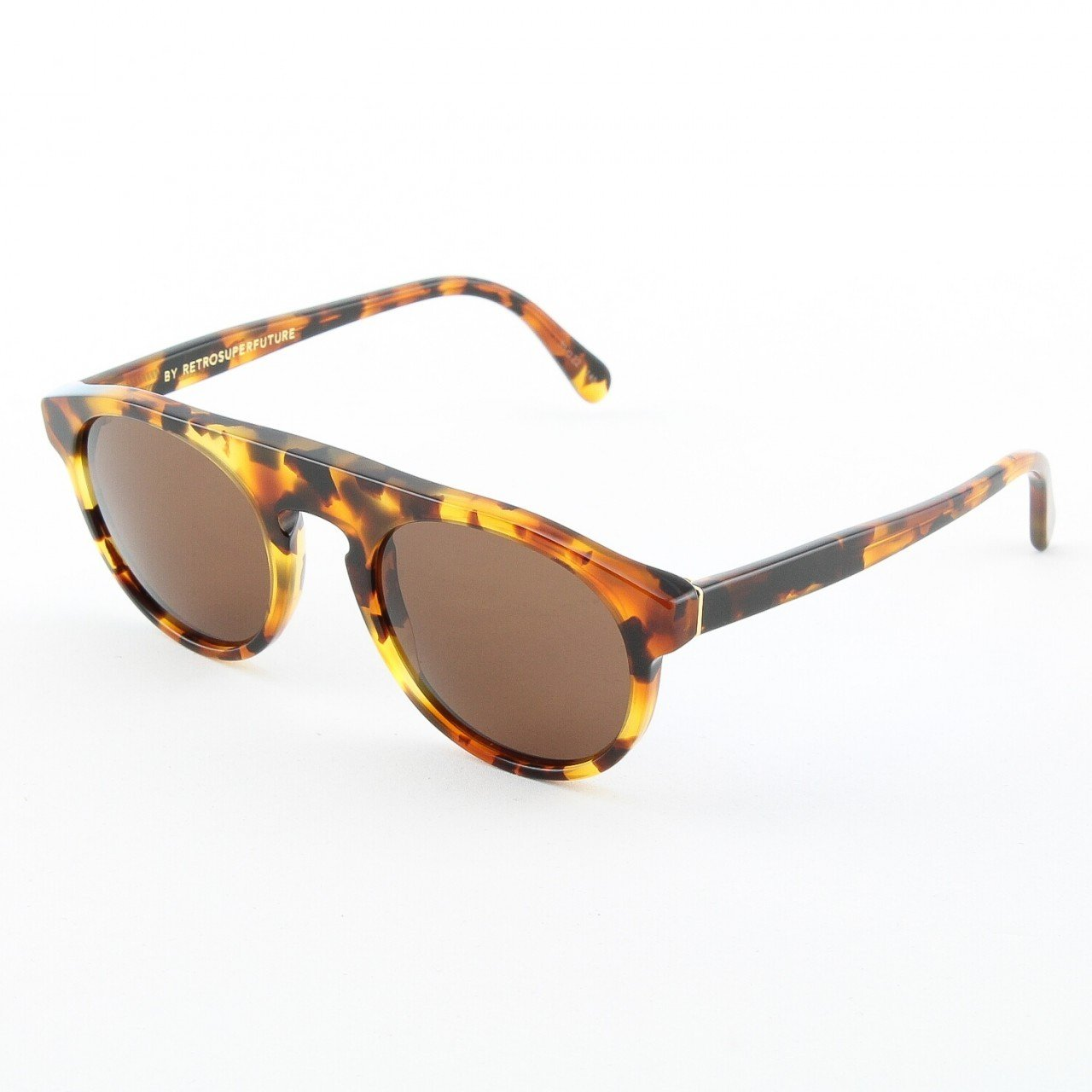 Super Racer 486/3T Sunglasses by RETROSUPERFUTURE Color Dark Havana with Black Zeiss Lenses