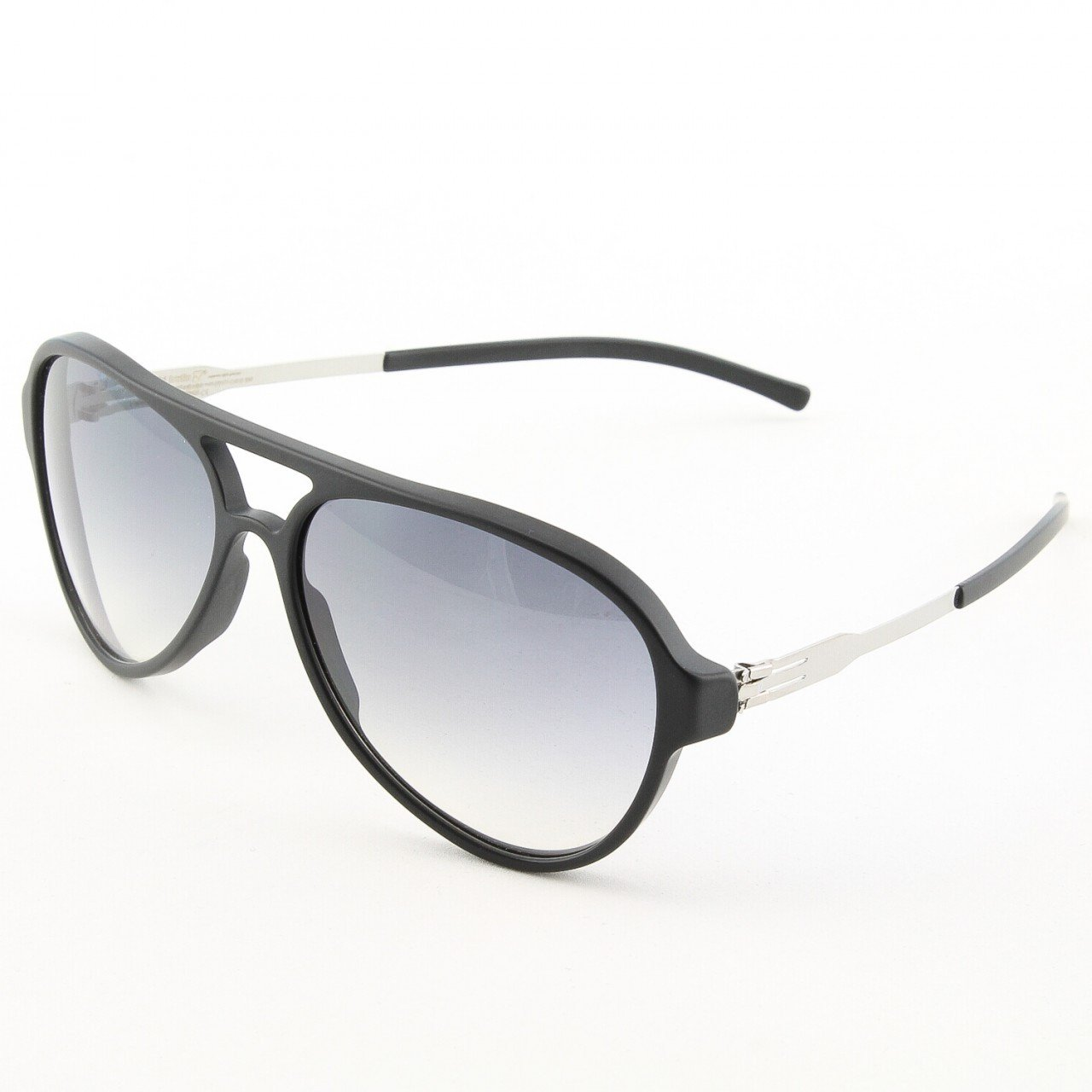 ic! Berlin Gefrone Sunglasses Col. Black/Chrome with Black Gradient Lenses