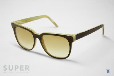 Super People 402 Sunglasses UniHorn Brown and Cream with Brown Zeiss Lenses by RETROSUPERFUTURE