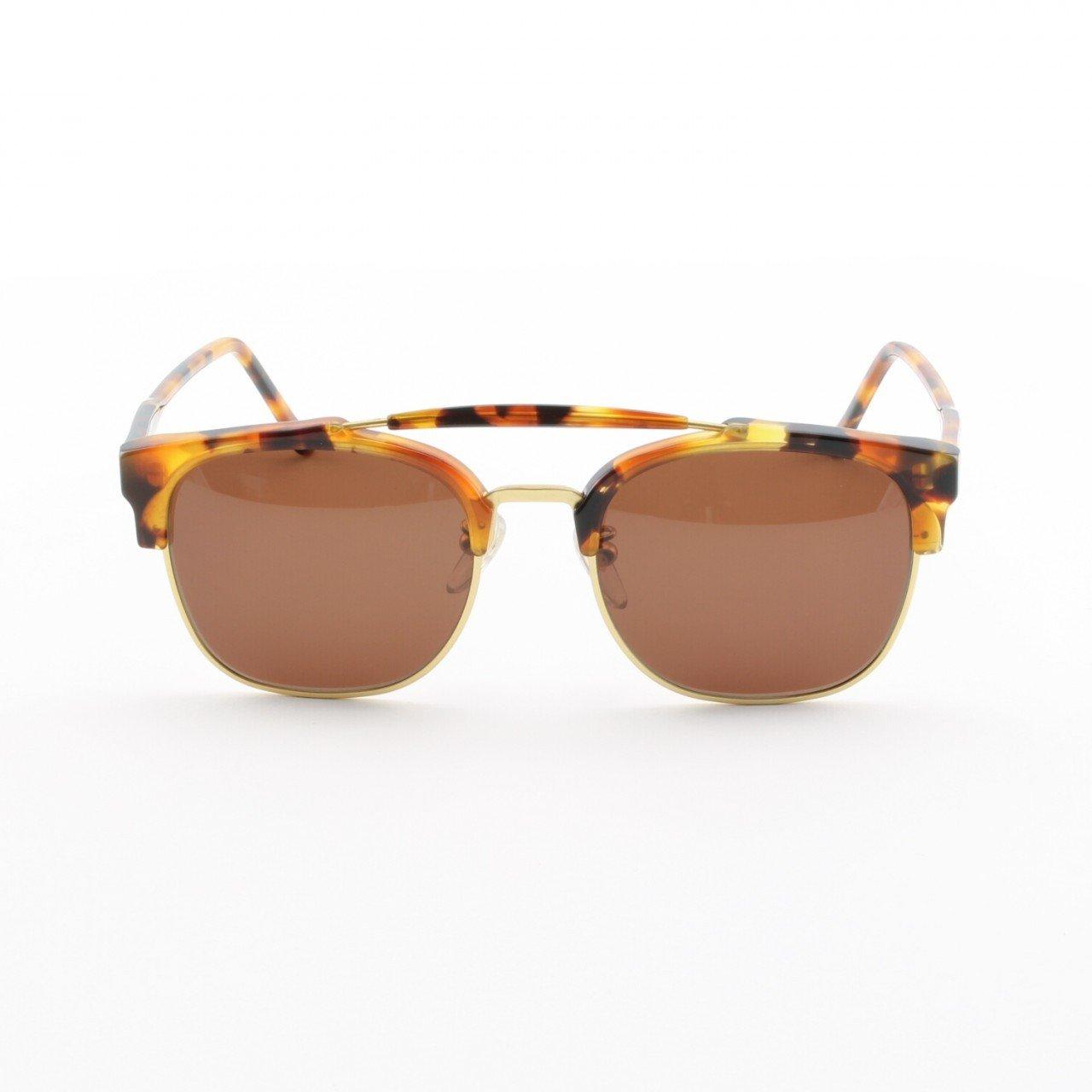 Super 49er 467 Sunglasses Dark Havana with Brown Zeiss Lenses by RETROSUPERFUTURE