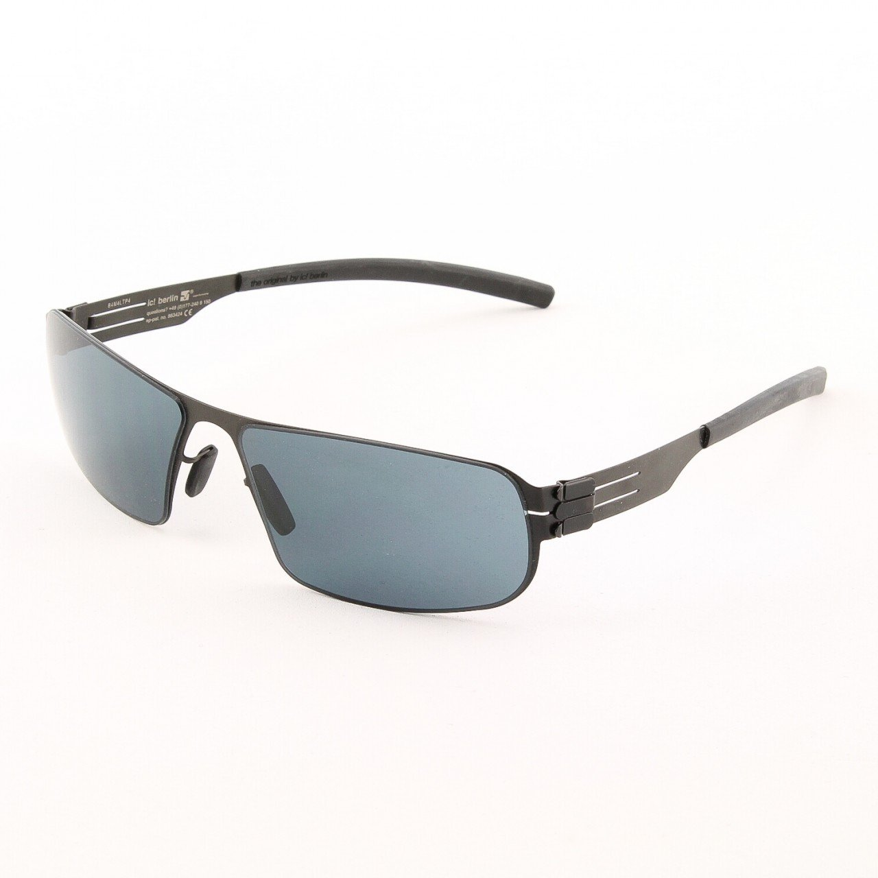 ic! Berlin Mortimer Sunglasses Col. Black with Grey Lenses