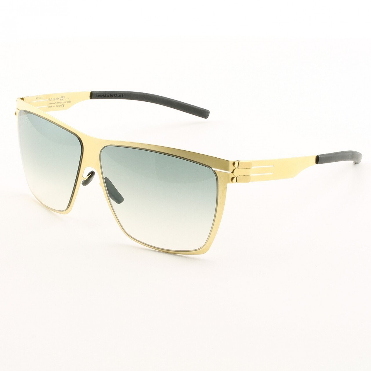 ic! Berlin Dark Energy Sunglasses Col. Gold with Black Gradient Lenses