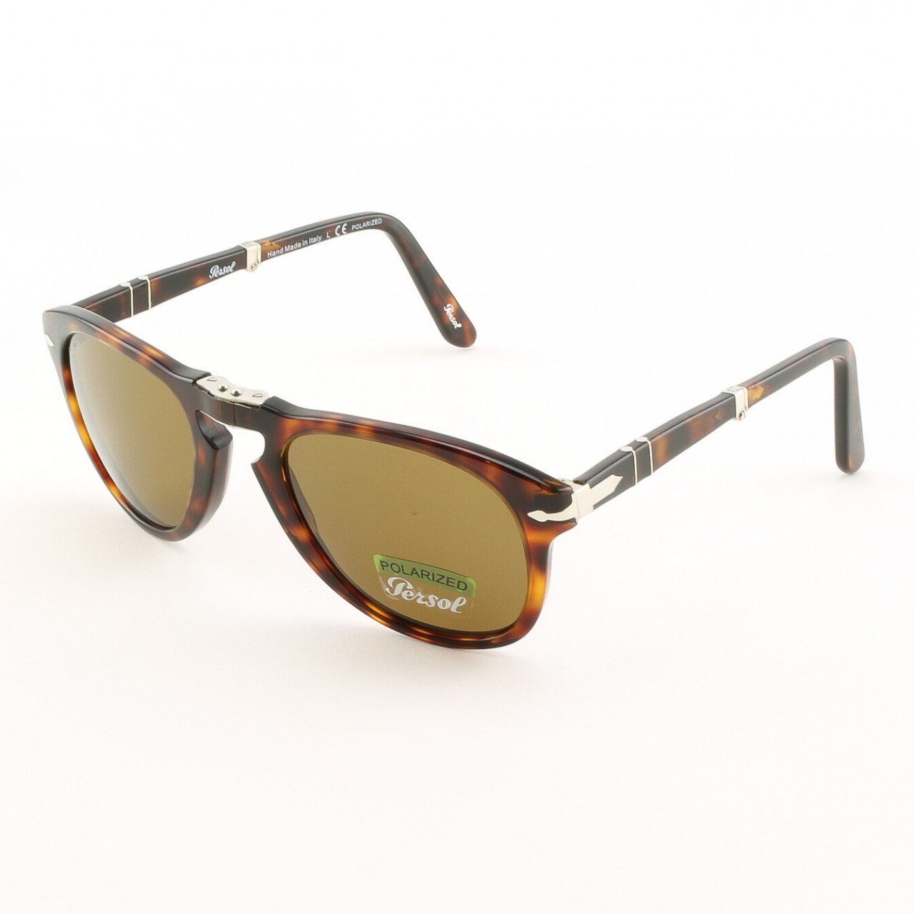 Persol PO0714 24/57 52mm Havana Sunglasses with Brown Polarized Lenses