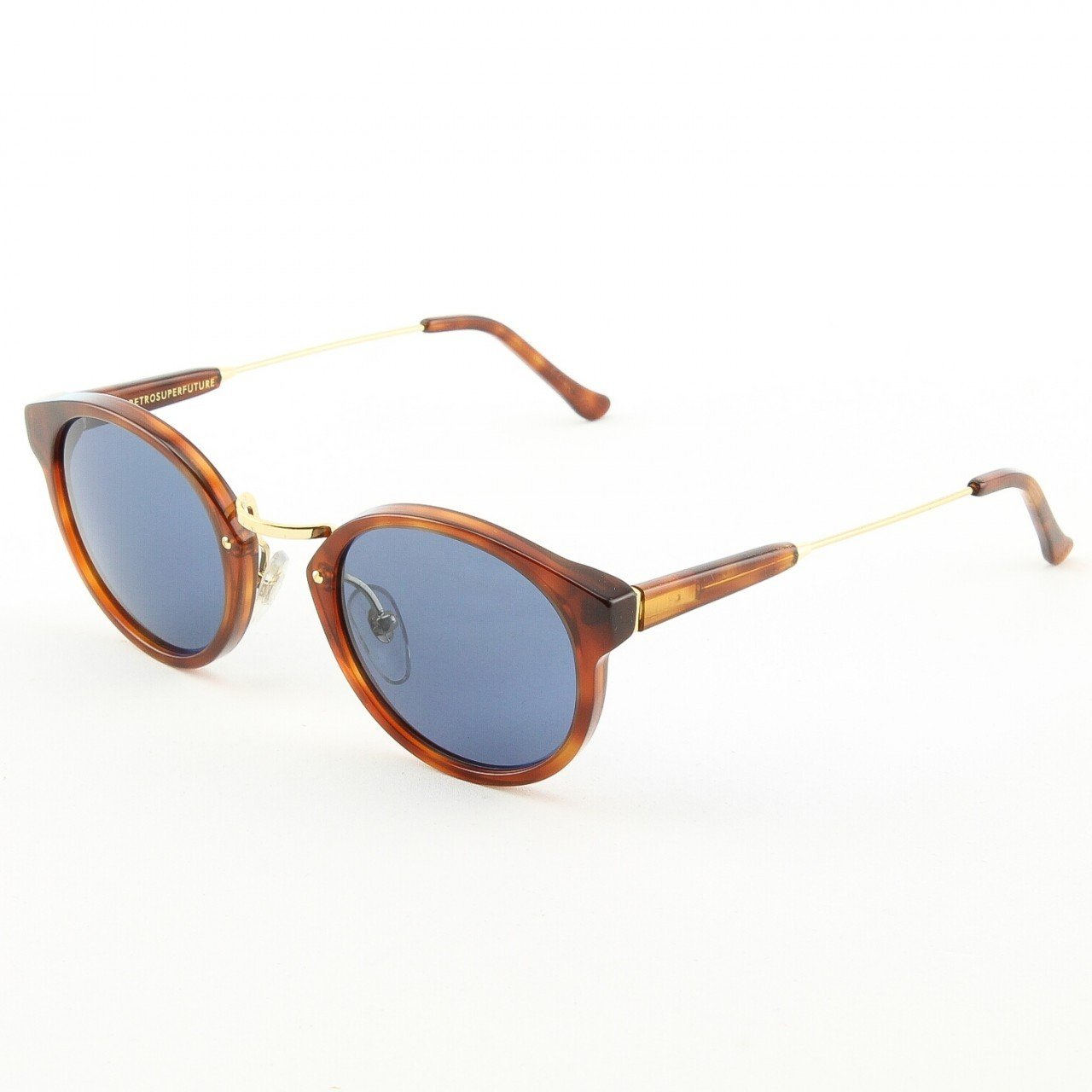 Super Panama 475/3T Sunglasses Color Brown Havana with Blue Zeiss Lenses by RETROSUPERFUTURE
