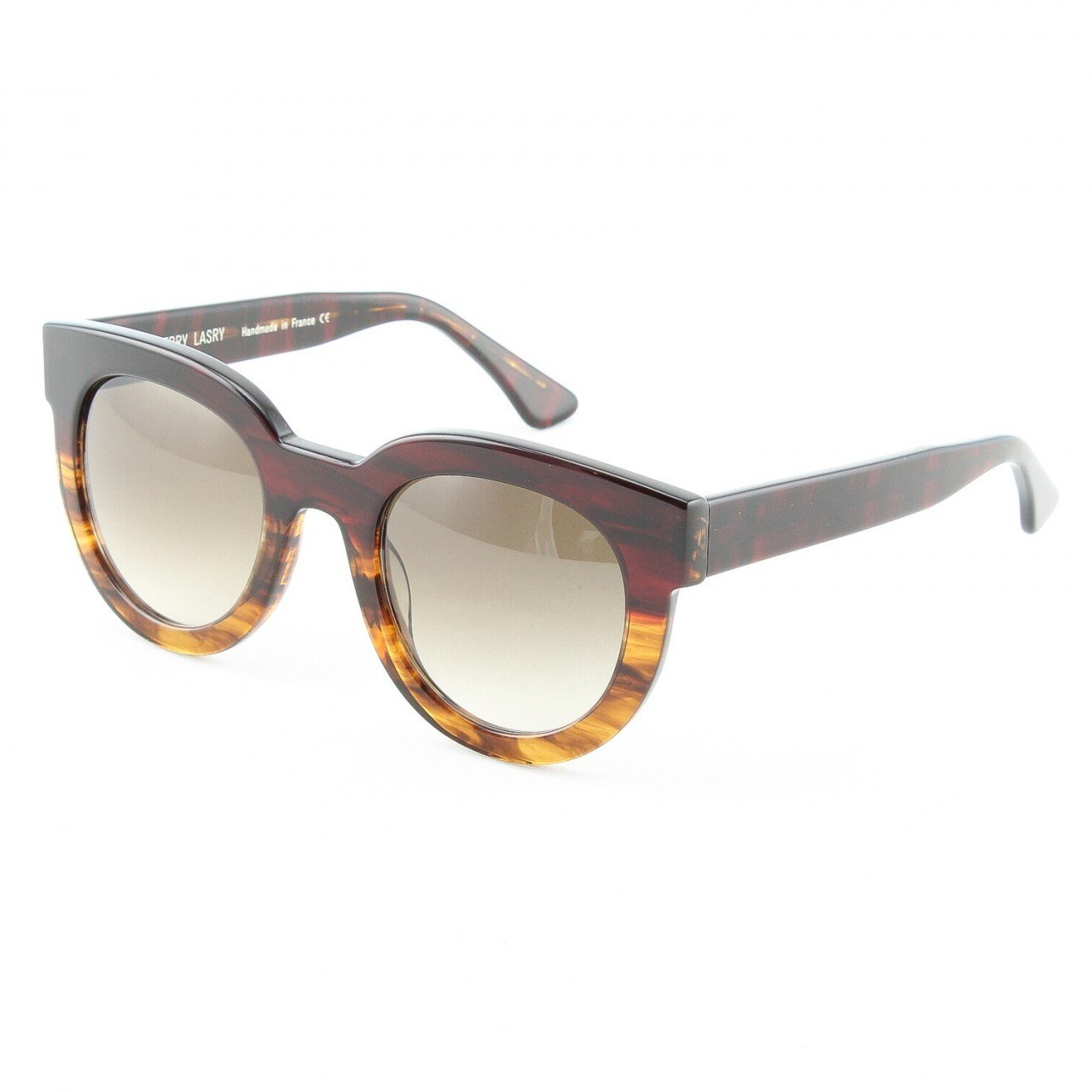 Thierry Lasry Therapy Sunglasses 1003 Brown Havana w/ Gray Gradient Lenses NWT