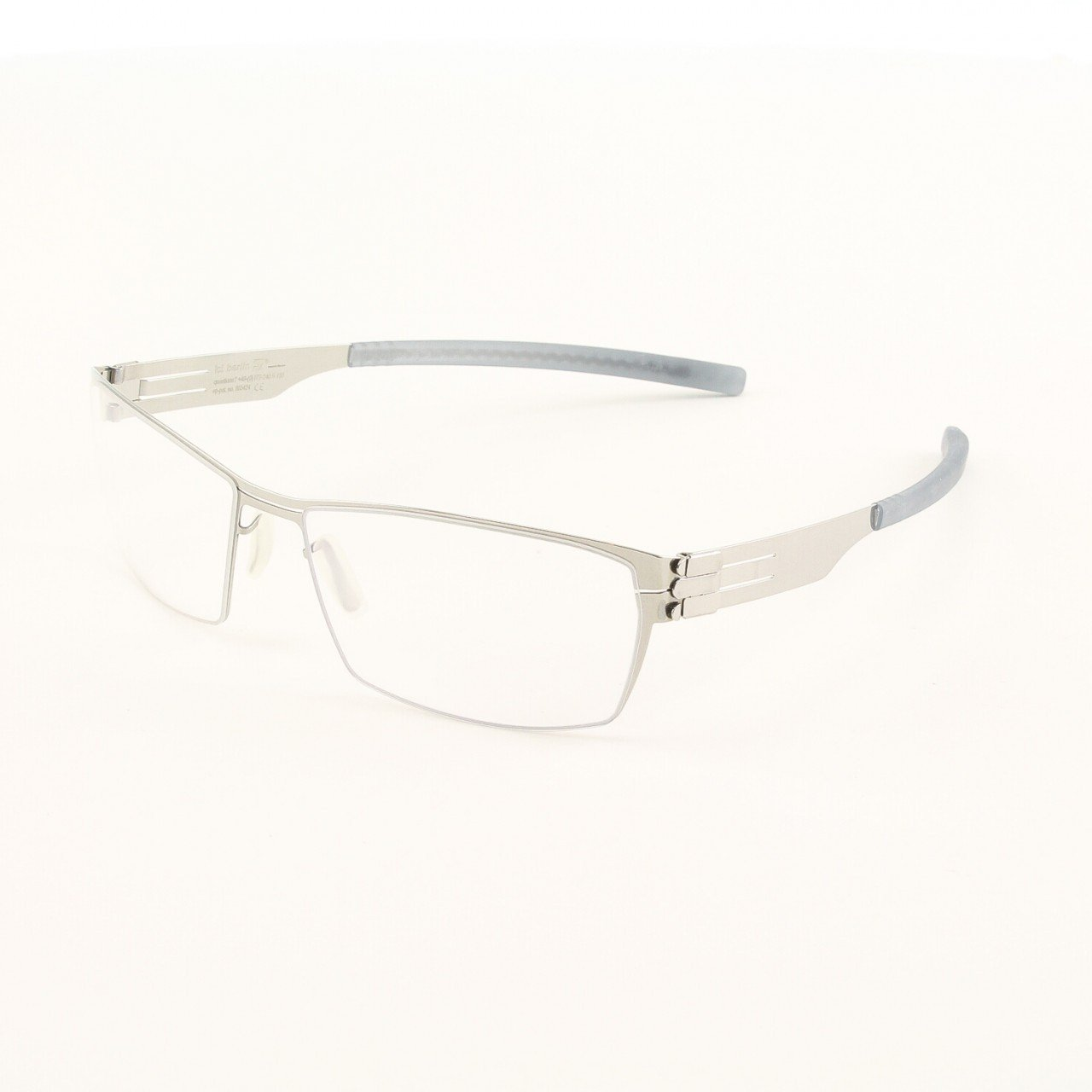 ic! Berlin Sanetsch Eyeglasses Col. Chrome with Clear Lenses