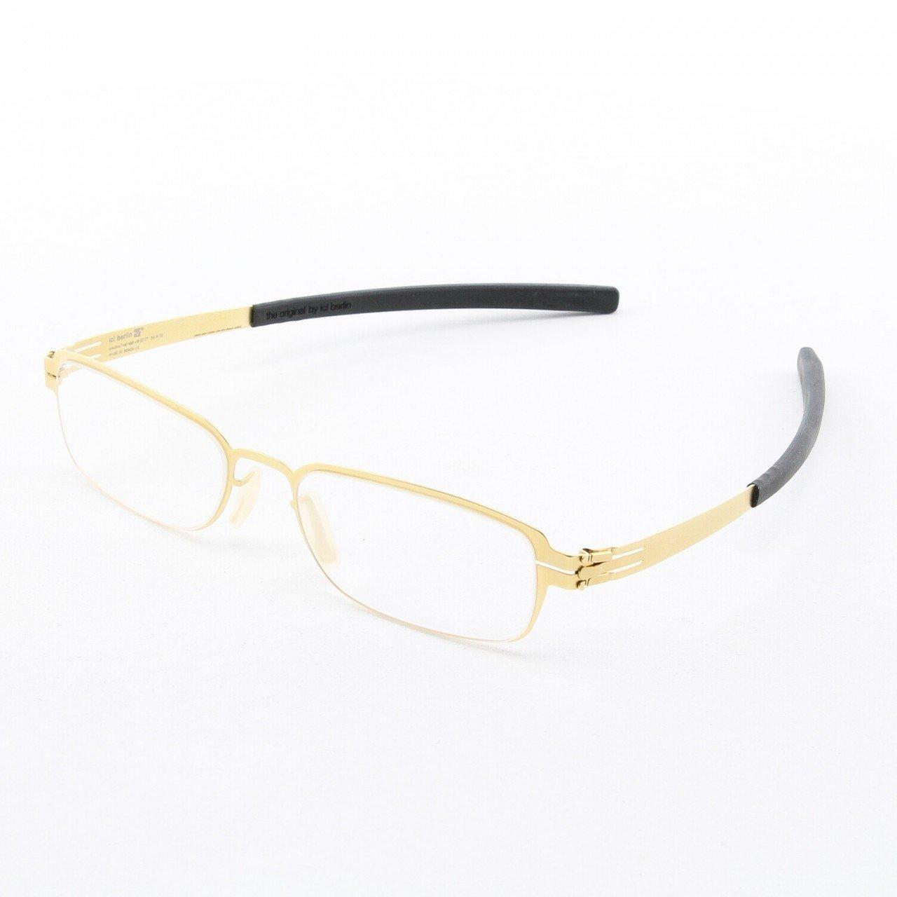 ic! Berlin Ilya K. Eyeglasses Col. Gold with Clear Lenses