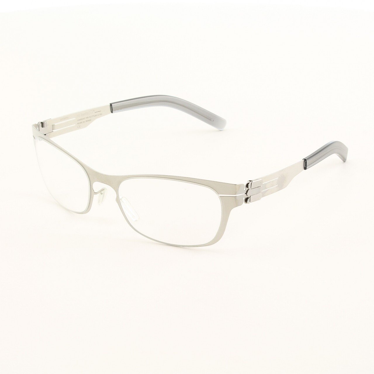 ic! Berlin Charmante Eyeglasses Col. Nickle with Clear Lenses