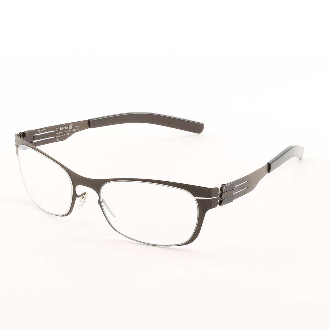 ic! Berlin Charmante Eyeglasses Col. Chocolate Brown with Clear Lenses