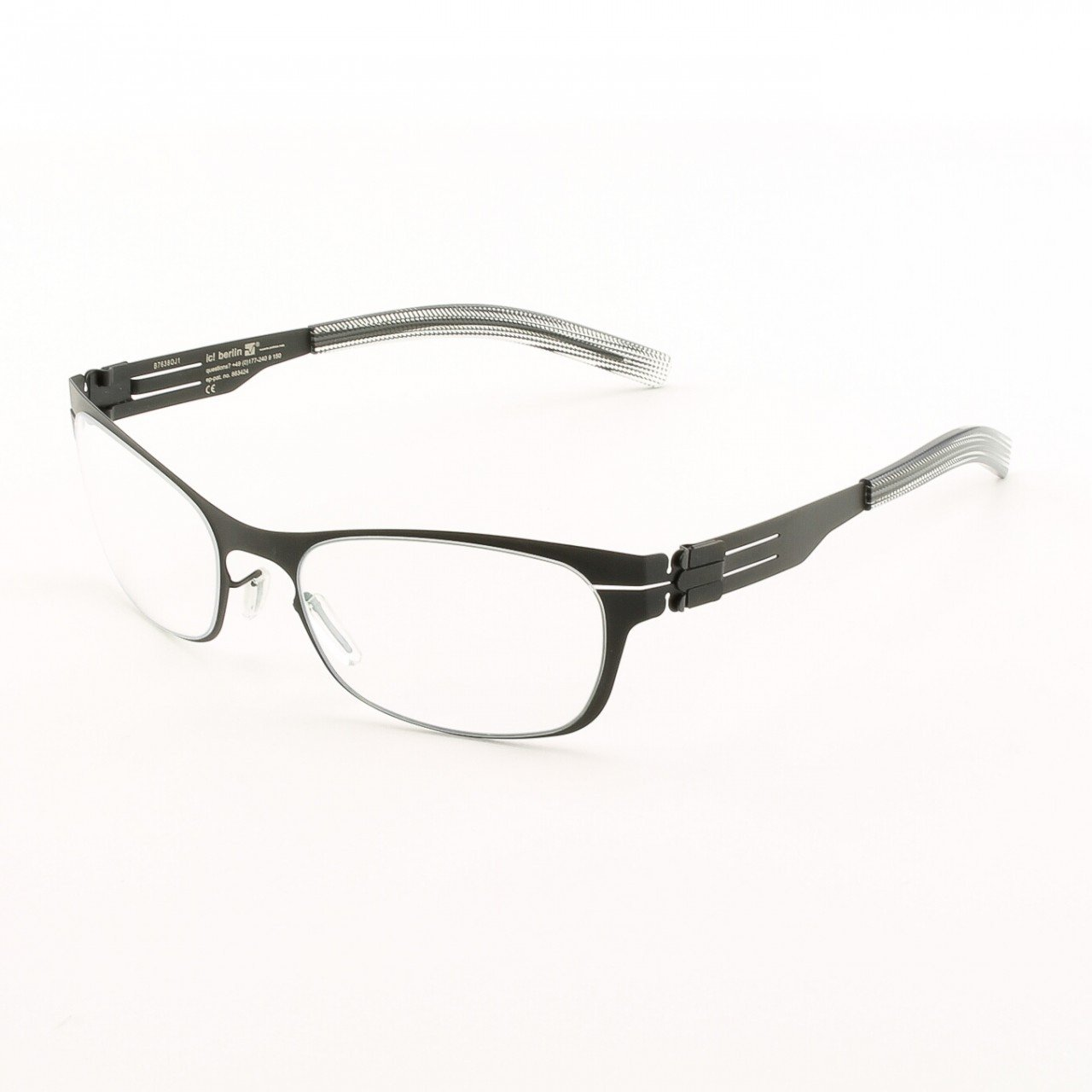 ic! Berlin Charmante Eyeglasses Col. Black with Clear Lenses