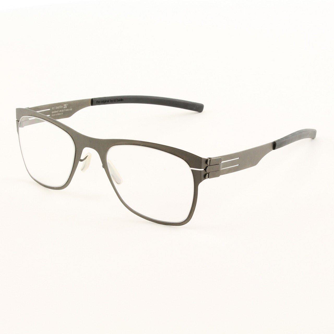 ic! Berlin Capricorno Graphite Eyeglasses Col. Graphite with Clear Lenses