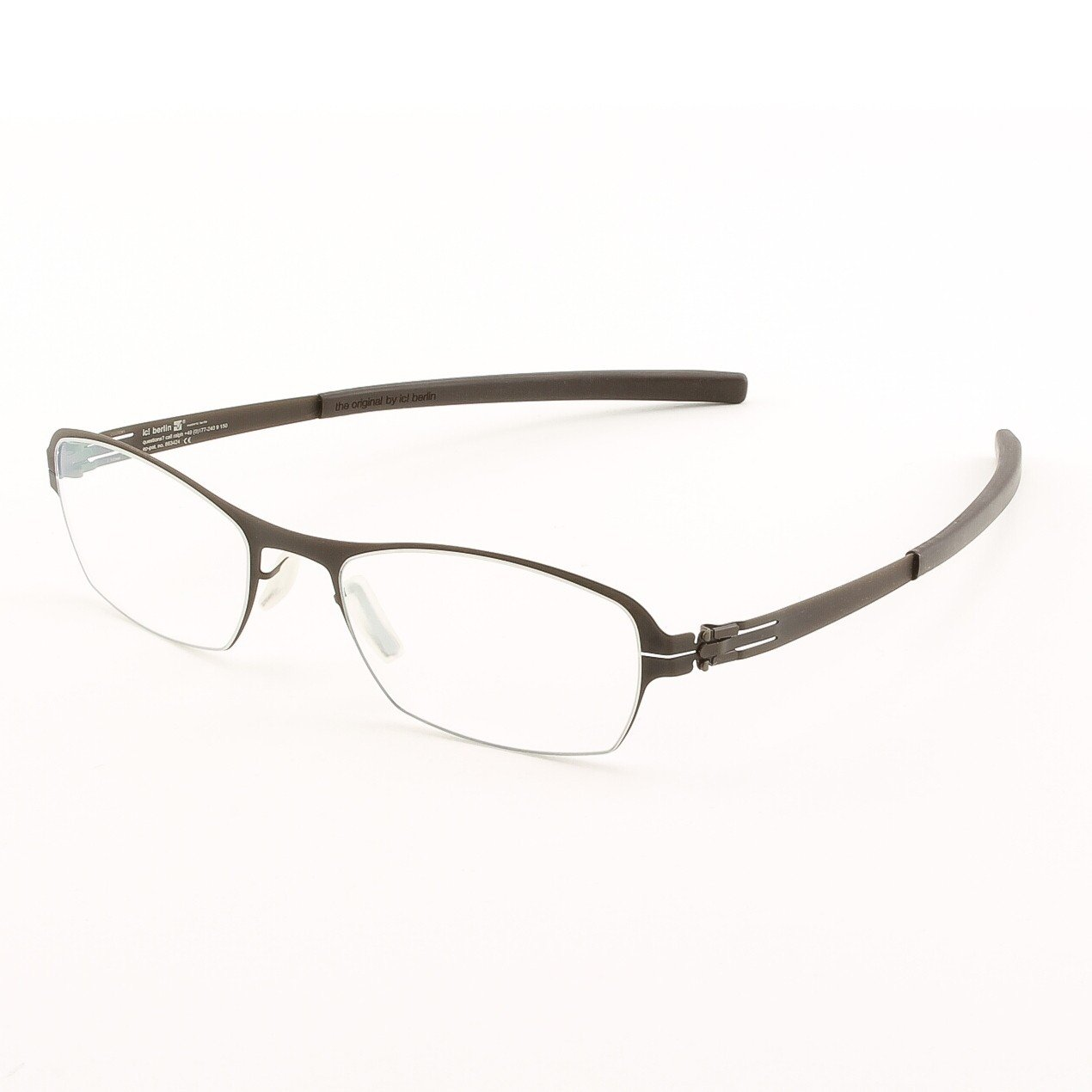 ic! Berlin Auf Dem Flusse Eyeglasses Col. Chocolate with Clear Lenses