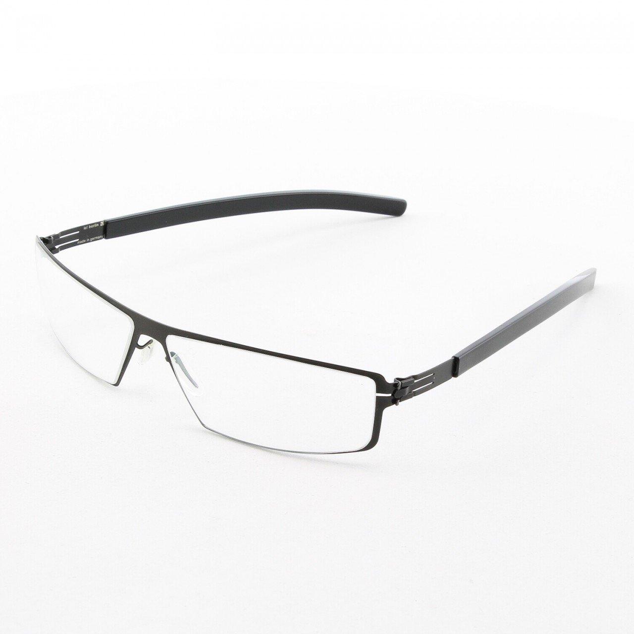 ic! Berlin Hornberg Eyeglasses Col. Black with Clear Lenses