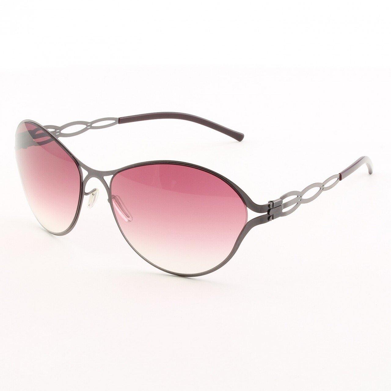 ic! Berlin Sensuelle Sunglasses Col. Aubergine with Rose Gradient Lenses