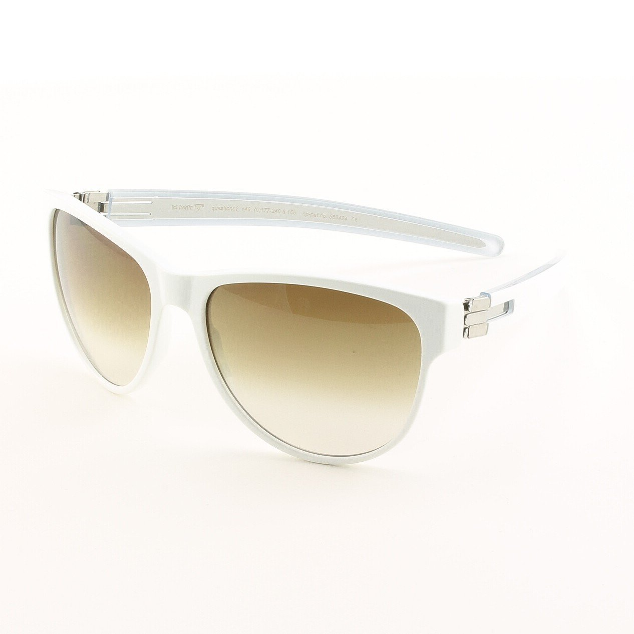 ic! Berlin Dr. Ihab Sunglasses Col. White / Chrome with Brown Gradient Lenses