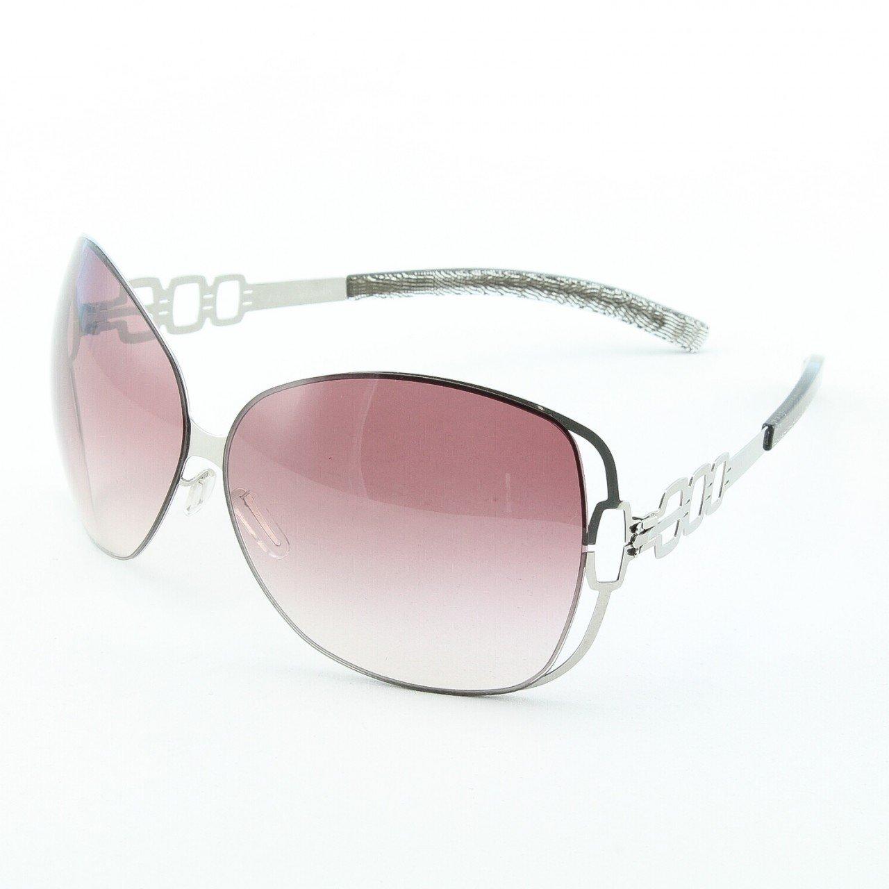 ic! Berlin Vendredi Sunglasses Col. Silver with Grey Lenses