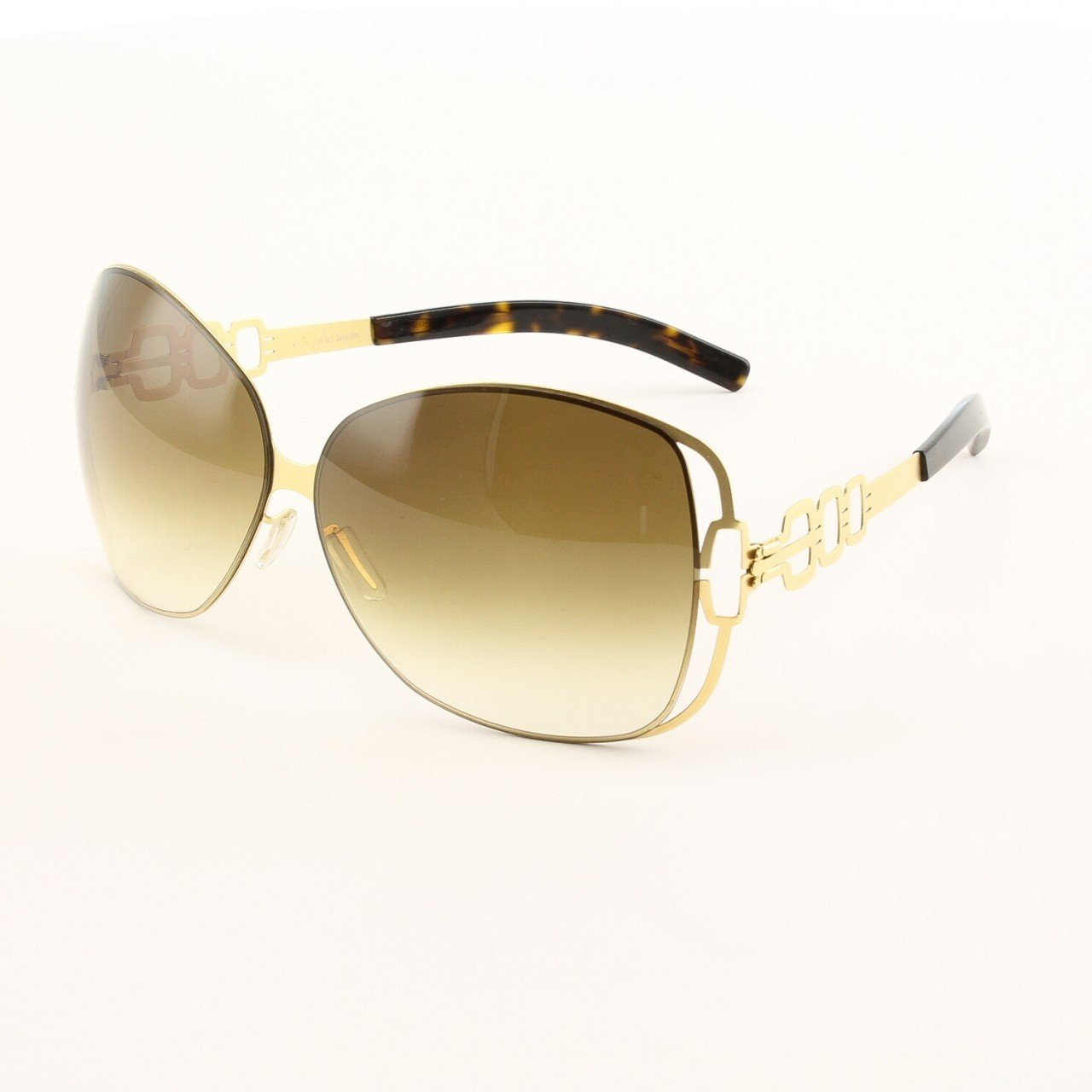 ic! Berlin Vendredi Sunglasses Col. Gold with Brown Lenses