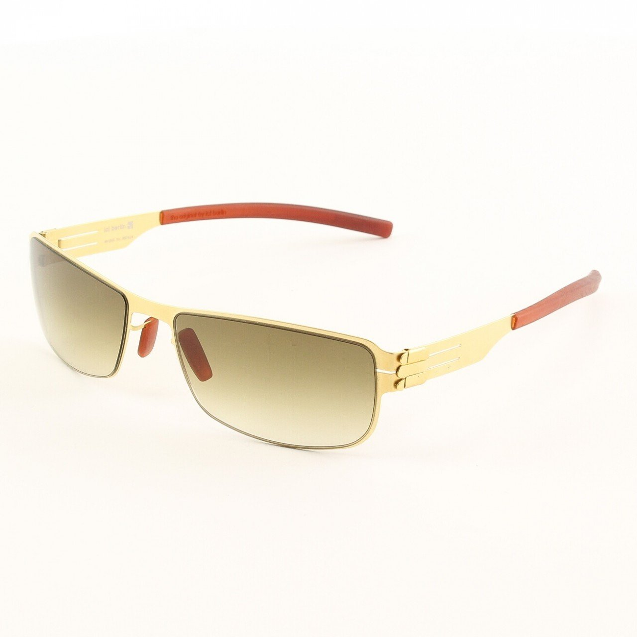 ic! Berlin Vreni Sunglasses Col. Gold with Brown Lenses