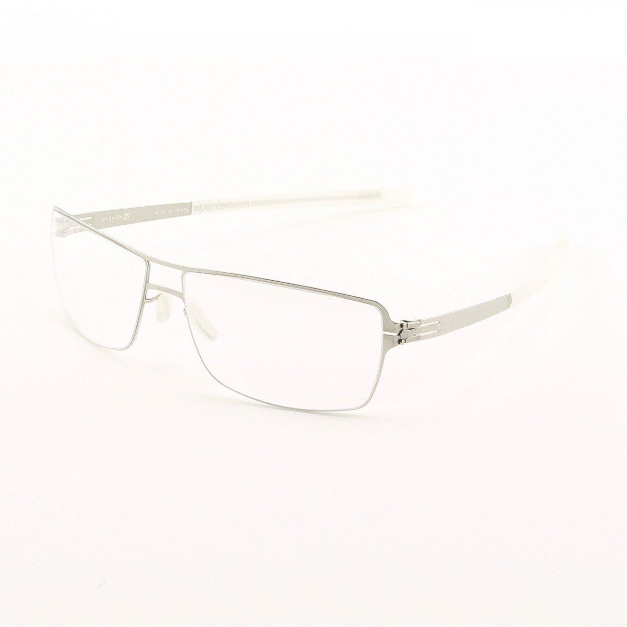 ic! Berlin Duke Eyeglasses Col. Chrome with Clear Lenses