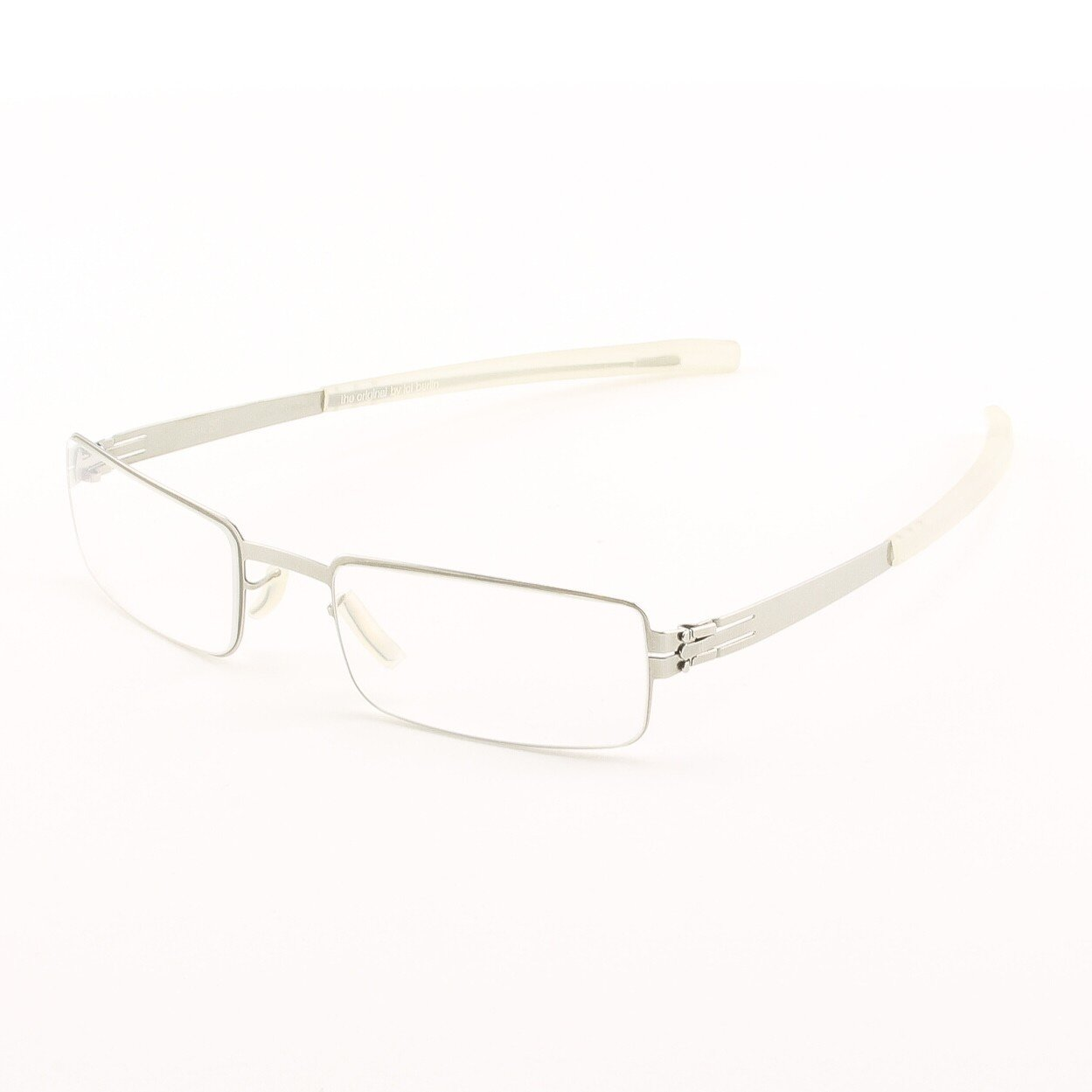 ic! Berlin Fritz W. Eyeglasses Col. Chrome with Clear Lenses
