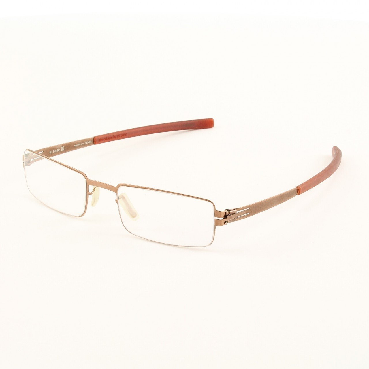 ic! Berlin Fritz W. Eyeglasses Col. Copper with Clear Lenses