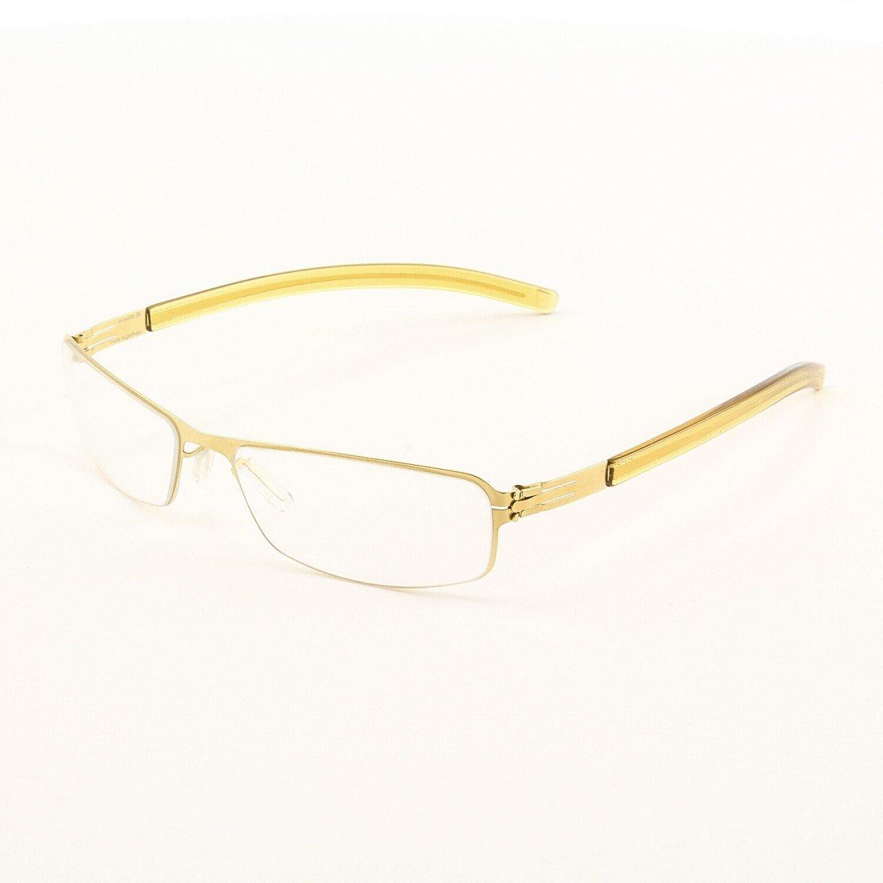ic! Berlin Heringsdorf Eyeglasses Col. Gold with Clear Lenses