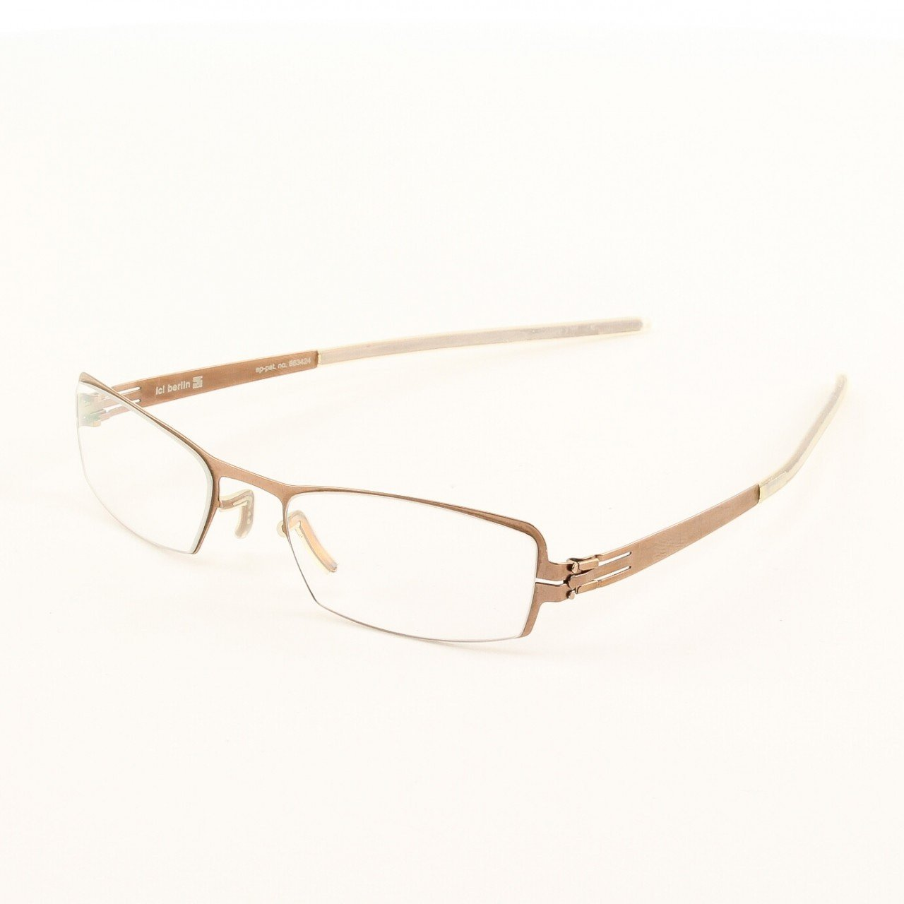 ic! Berlin Ike Eyeglasses Col. Copper with Clear Lenses