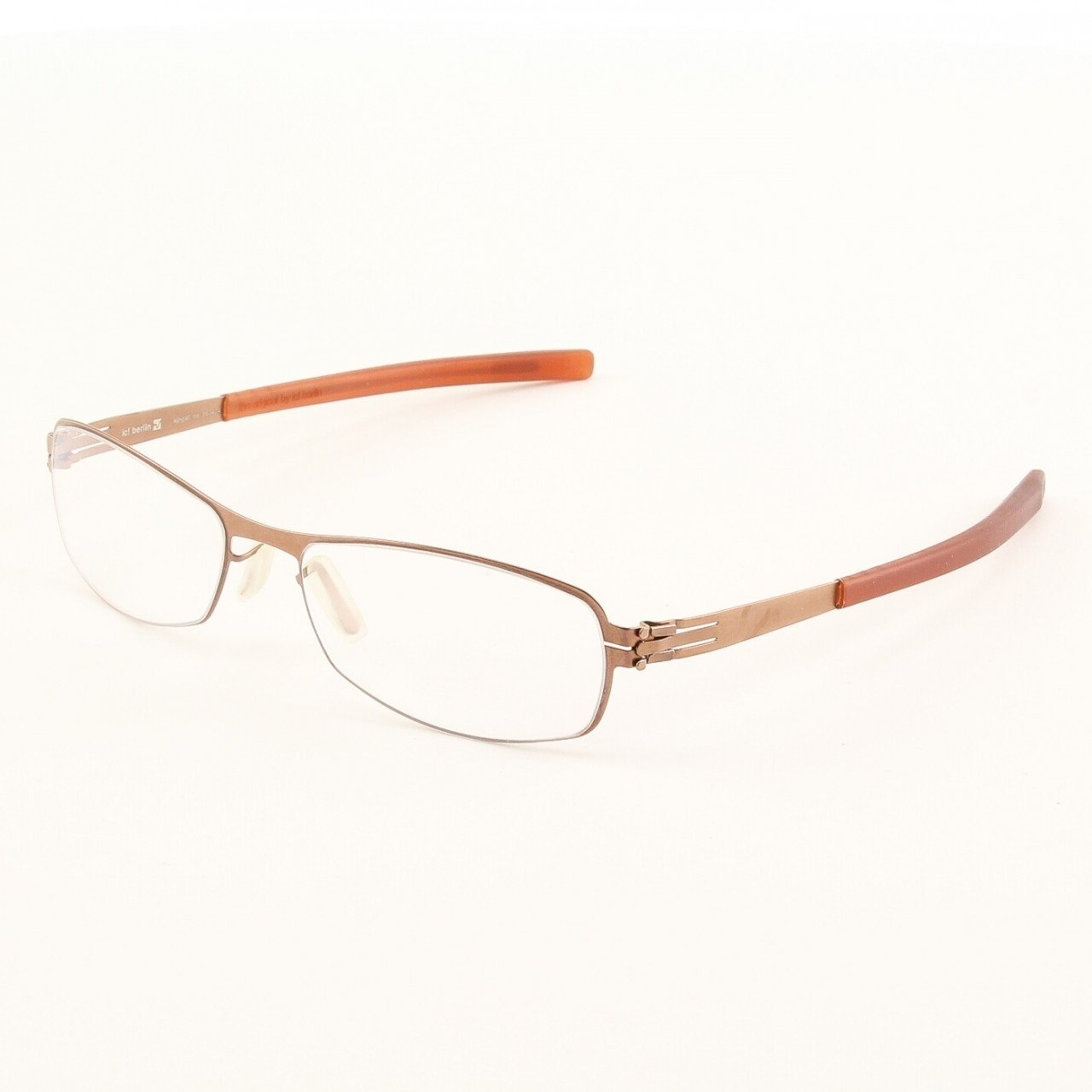 ic! Berlin Rose Eyeglasses Col. Copper with Clear Lenses