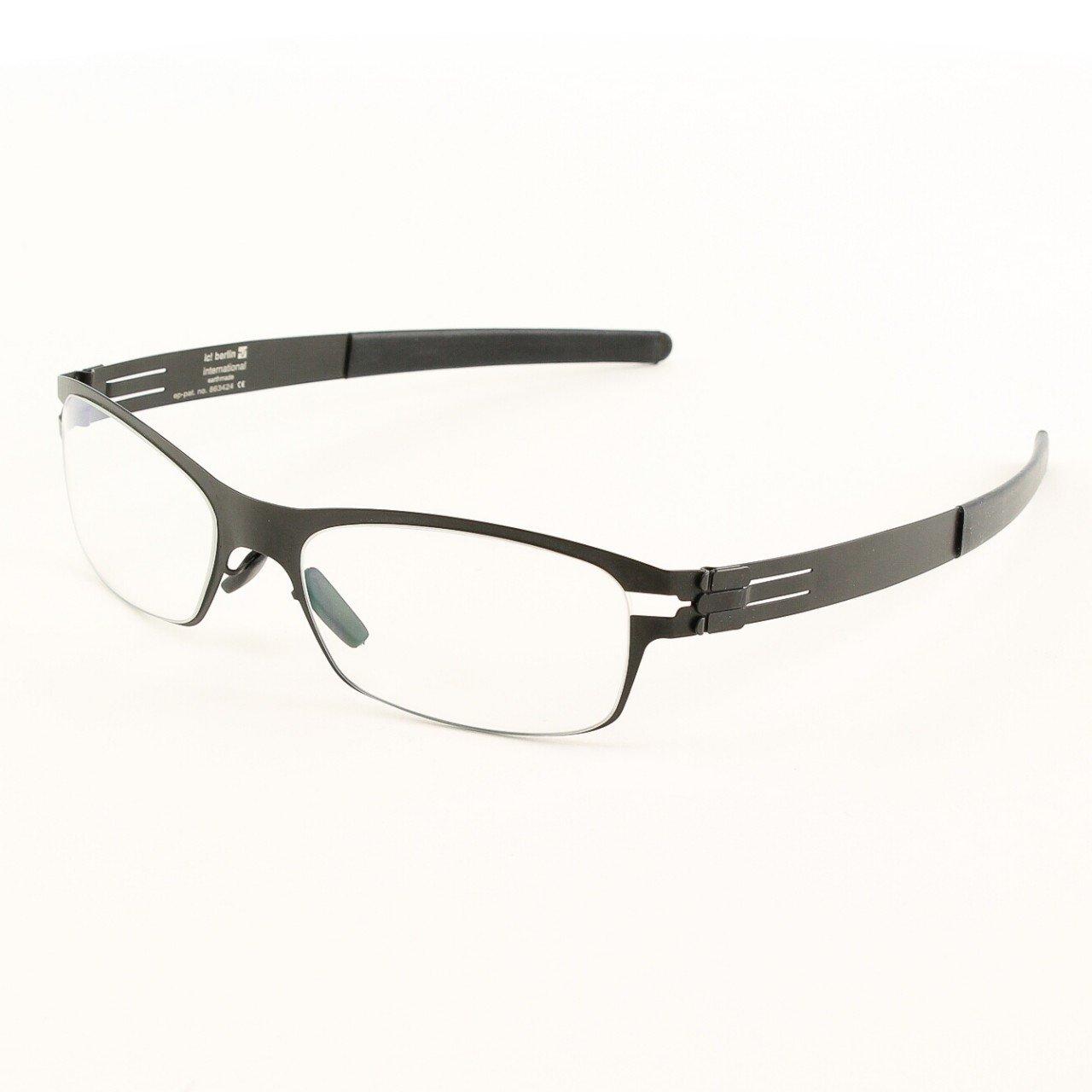 ic! Berlin Tennooji Eyeglasses Col. Black with Clear Lenses