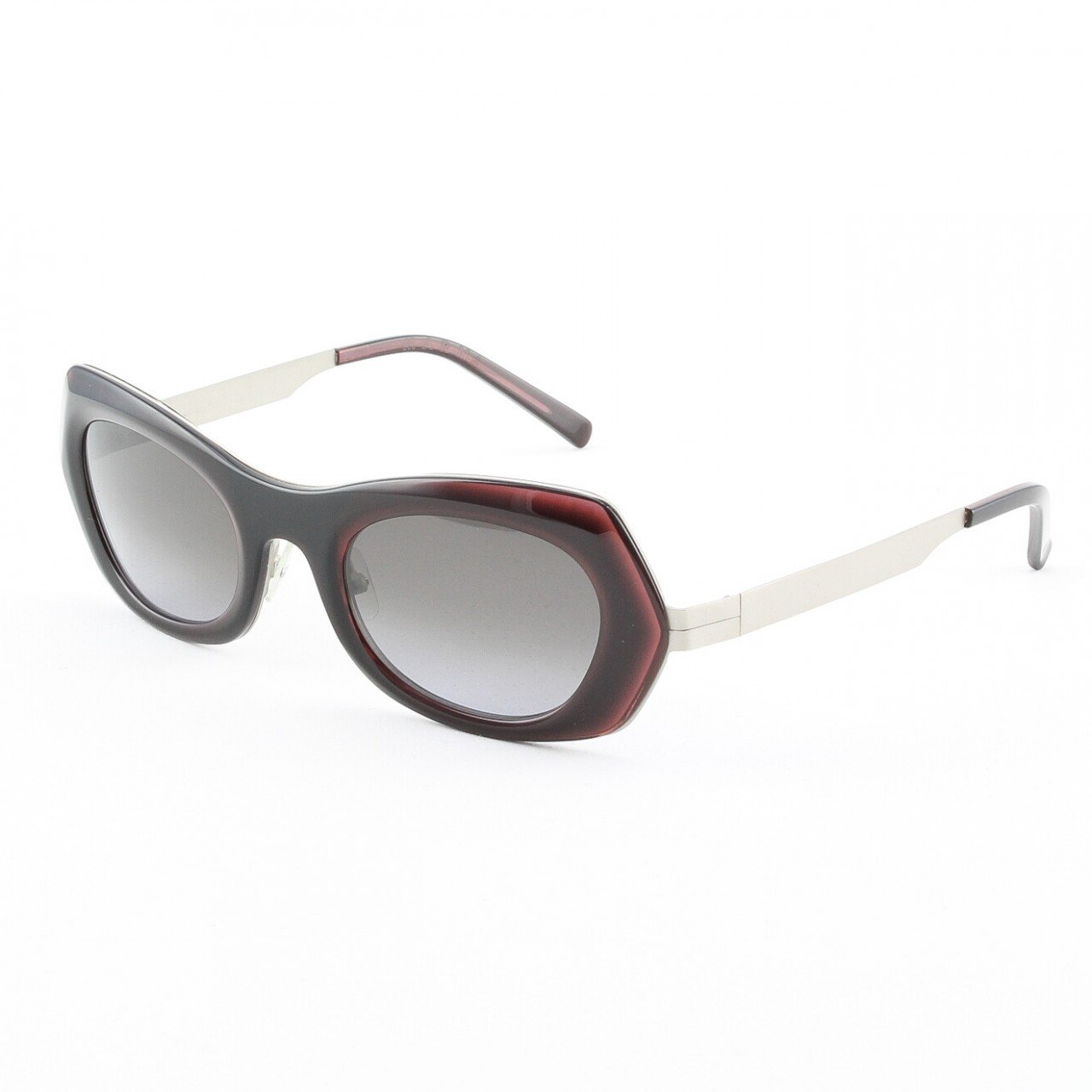 Marni MA188S Sunglasses Col. 03 Black w/ Deep Burgundy Accent with Gradient Gray Lenses