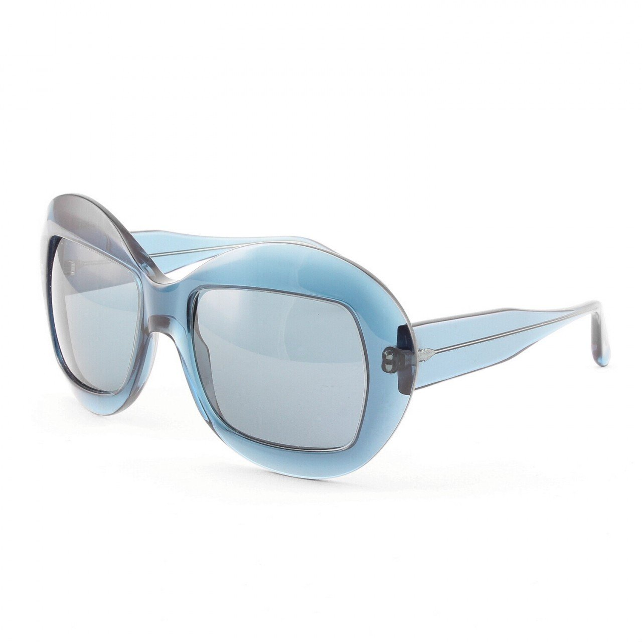 Marni MA186S Sunglasses Col. 03 Translucent Navy Blue with Blue Lenses