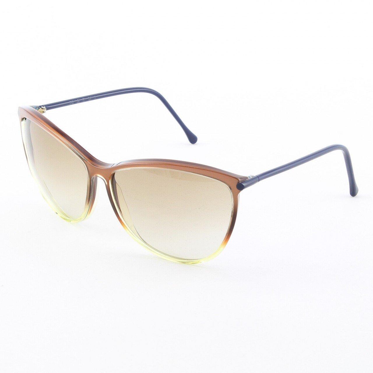 Marni MA183S Sunglasses 09 Translucent Copper, Navy Blue Accent, Gradient Lenses