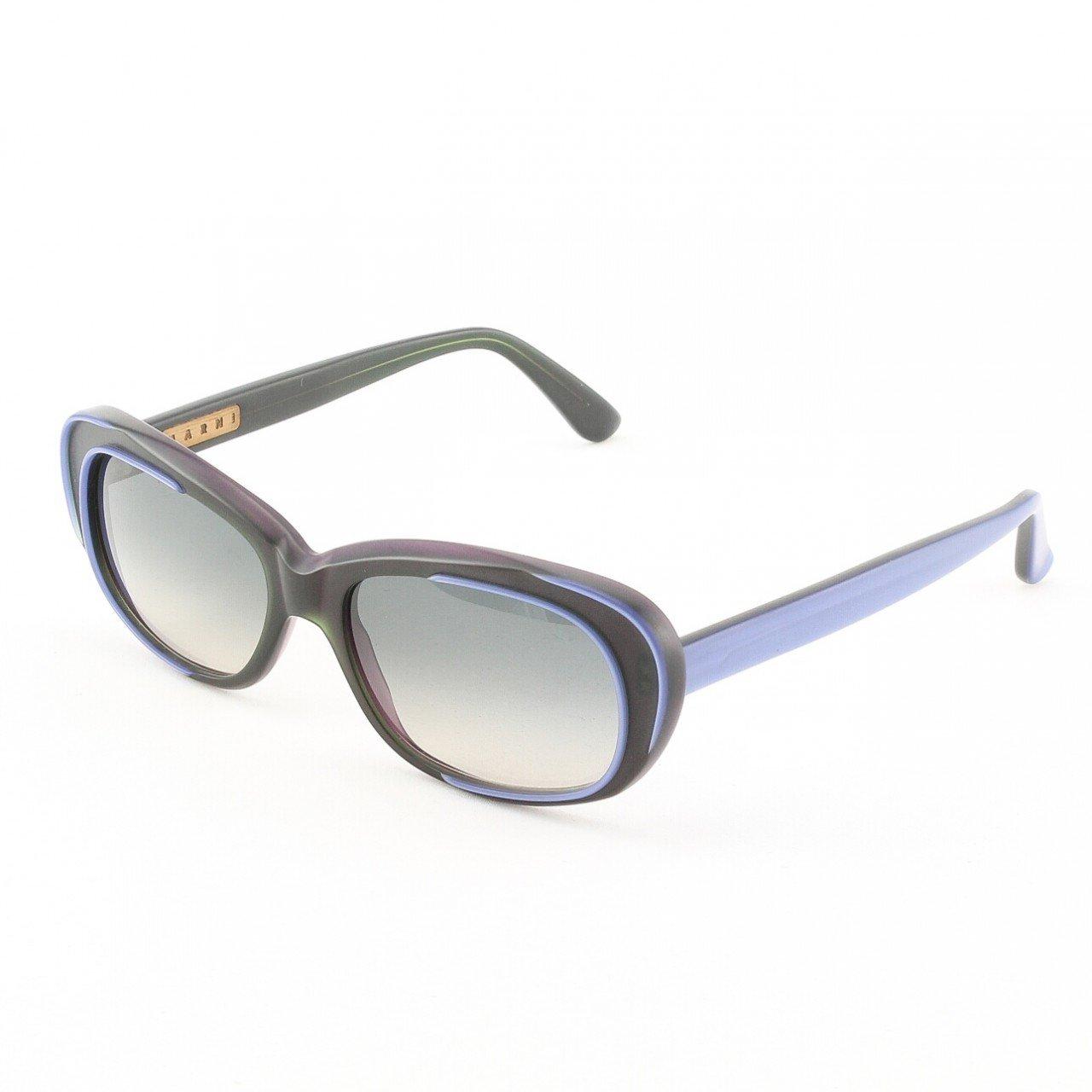 Marni MA174S Sunglasses Col. 06 Graphic Grey w/ Purple Accents with Gray Gradient Lenses
