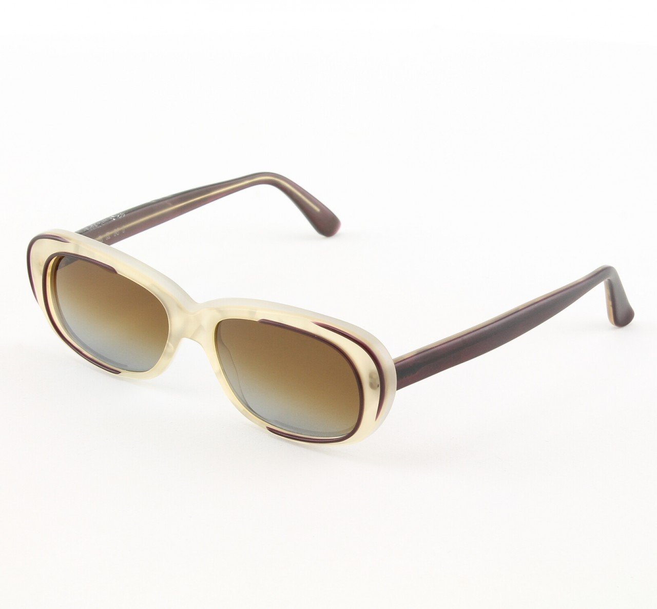 Marni MA174S Sunglasses Col. 03 Translucent Cream w/ Burgundy Accents with Gray Gradient Lenses